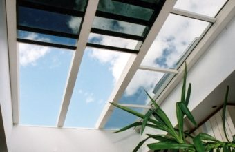 retractable insulated glass roof open